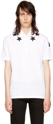 Givenchy White Stars Polo $550 thestylecure.com