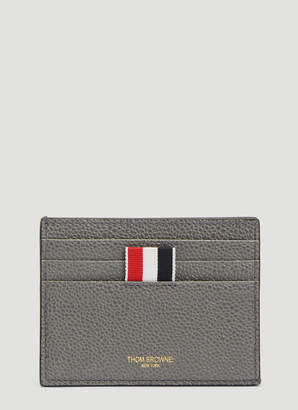 Thom Browne Blind Emboss Card Holder in Grey