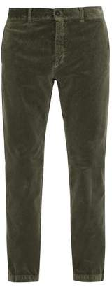 Massimo Alba Straight Leg Velvet Trousers - Mens - Khaki