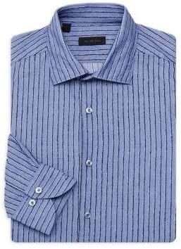 Saks Fifth Avenue COLLECTION Stripes Cotton Dress Shirt