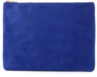 Arenot (アーノット) - アーノット スエード フラットポーチ L ブルー(SUEDE FLAT POUCH L blue)