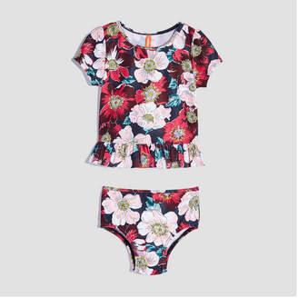 Joe Fresh Baby Girls' 2 Piece Floral Swim Set