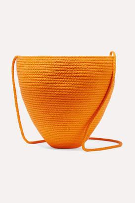 Catzorange - Woven Cotton Bucket Bag - one size