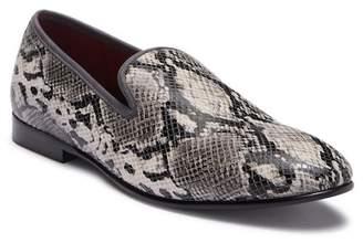 Tallia Enrico Snake Embossed Leather Loafer