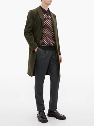 Harris Wharf London Single Breasted Wool Coat - Mens - Green