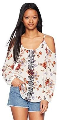 Jolt Women's Long Sleeve Cold Shoulder Top