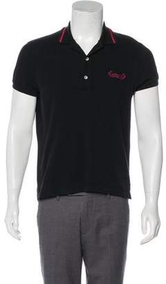 Gucci Embroidered Whale Polo Shirt