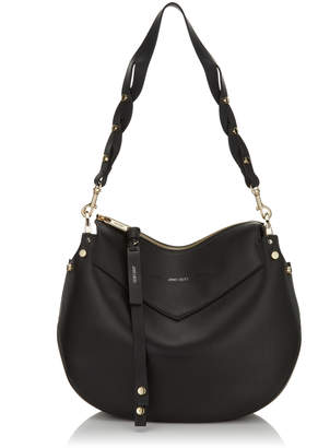 Jimmy Choo ARTIE Black Nappa Leather Shoulder Bag