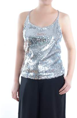 632393ebf74b1 Anna-Kaci Womens Shimmer All Over Sequin Sparkle Spaghetti Strap Vest Tank  Top