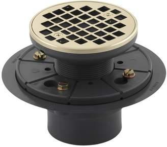 "Kohler Round Design 3"" Grid Shower Drain"