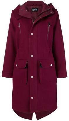 Karl Lagerfeld Hooded oversized parks coat