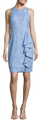 Eliza J Sleeveless Ruffle Sheath Dress