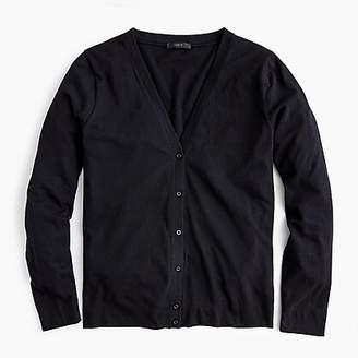 J.Crew Long-sleeve cardigan in slub cotton