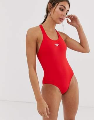 Speedo Logo Medalist Swimsuit