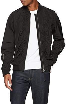 True Religion Men's Bomber Jacket, (Jet Black 1106), XX-Large