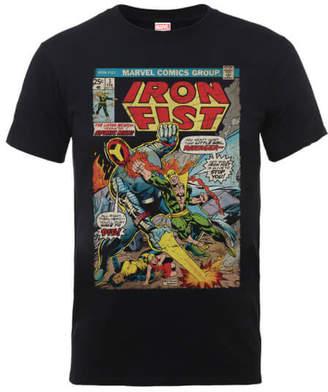 Marvel Comics Iron Fist Atomic Man Men s Black T-Shirt d77f0306f6f4