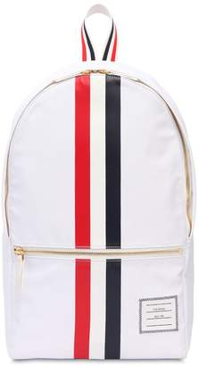 Thom Browne Nylon Backpack W/ Printed Rubber Stripes