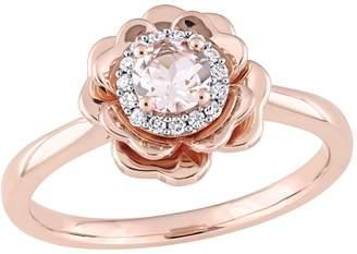 Rina Limor Fine Jewelry Women's 10K Rose Gold, Morganite & Diamond Ring