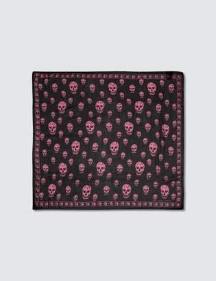 Alexander McQueen Allover Skull Print Silk Scarf