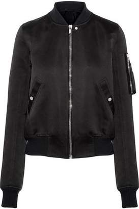 Rick Owens Flight Satin Bomber Jacket