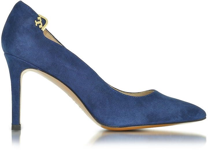 Tory Burch Tory Burch Elizabeth Royal Navy Suede Pump