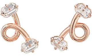 CHASUNYOUNG Women's Crystal-Embellished Stud Earrings