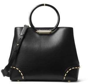 Michael Kors Heron Ring-Handle Leather Tote