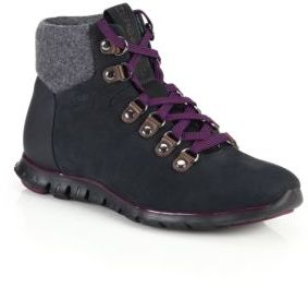 Cole Haan ZeroGrand Leather & Suede Lace-Up Sneakers $248 thestylecure.com