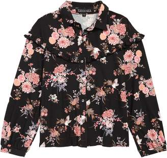 Trixxi Floral Knit Top