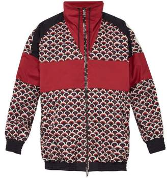 Valentino Scale Logo Print Bomber Jacket - Mens - Red