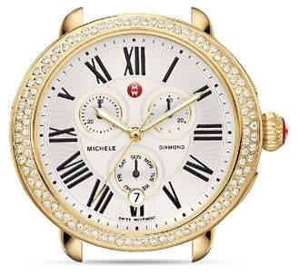 Michele Serein Diamond Gold Watch Head, 40 x 38mm