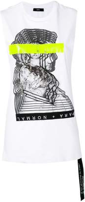 Diesel statue patch tank top