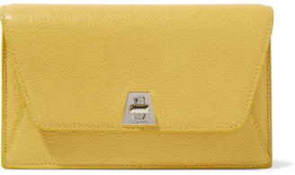 Akris Anouk Envelope Textured-leather Clutch - Yellow