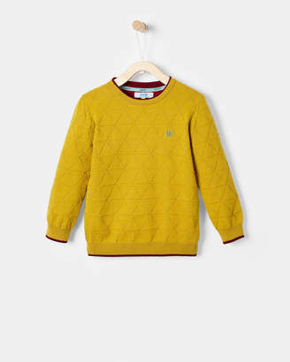 Ted Baker JOHAN Cotton geo cable knit jumper