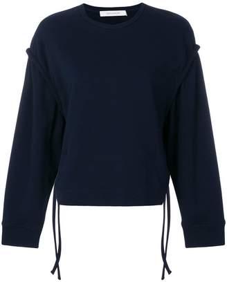 Cédric Charlier ruffle detail sweatshirt
