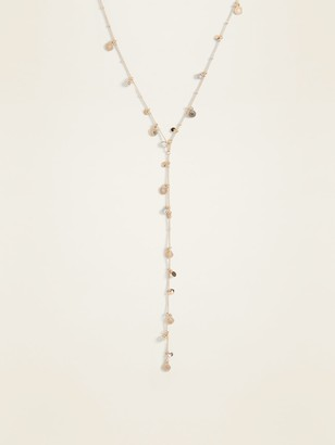 Old Navy Gold-Toned Y-Neck Station Necklace for Women