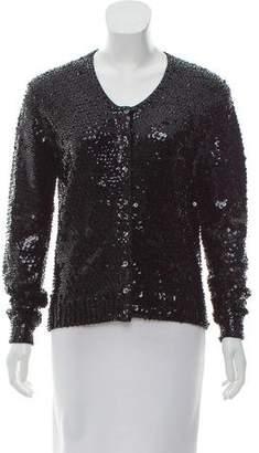 Norma Kamali Embellished Wool Cardigan