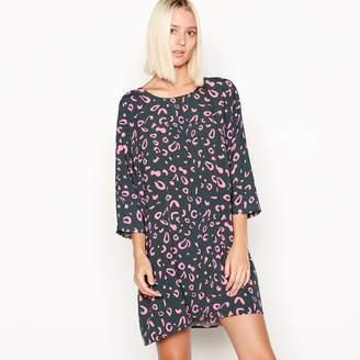 Noisy May Multicoloured Magic Eye Print 3/4 Length Sleeve Mini Dress