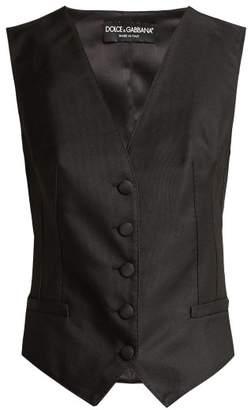Dolce & Gabbana Satin Waistcoat - Womens - Black