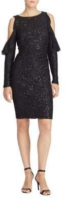Lauren Ralph Lauren Sequined Cold-Shoulder Dress