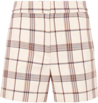 Maje Checked Twill Shorts - Ivory