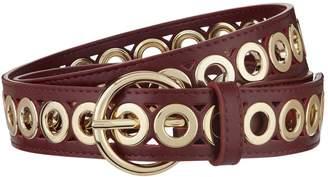 Sandro Leather Loop Embellished Belt