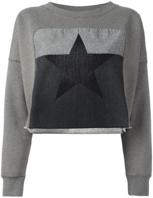 Diesel star patch sweatshirt $146.06 thestylecure.com