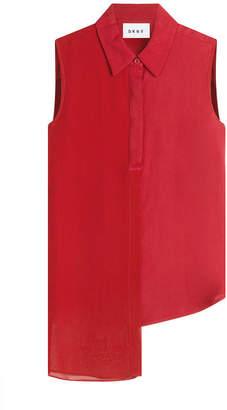 DKNY Asymmetric Sleeveless Shirt