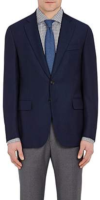 Isaia Men's Gregory Basket-Weave Wool Two-Button Sportcoat