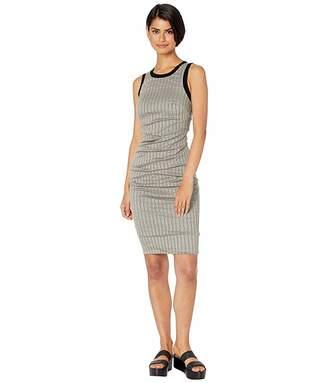 Nicole Miller Striped Cotton Metal Sheath Dress