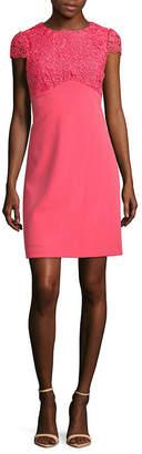 Nanette Lepore Cap Sleeve Knit Lace Dress