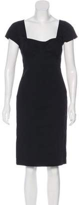 Narciso Rodriguez Short Sleeve Knee-Length Dress