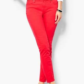 Talbots Garment-Dyed Slim Ankle Jeans - Bright Apple