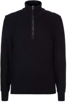 Tom Ford Chunky Rib Knit Half Zip Sweater